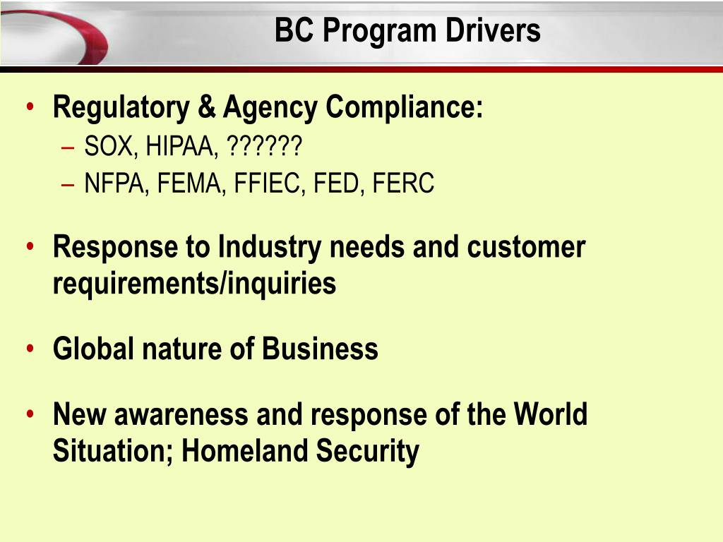BC Program Drivers
