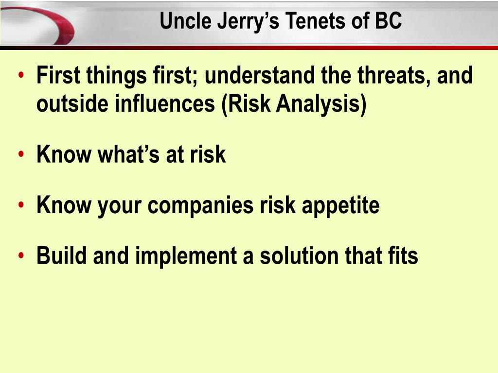 Uncle Jerry's Tenets of BC