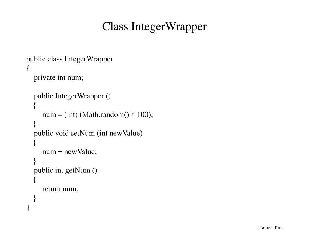 Class IntegerWrapper