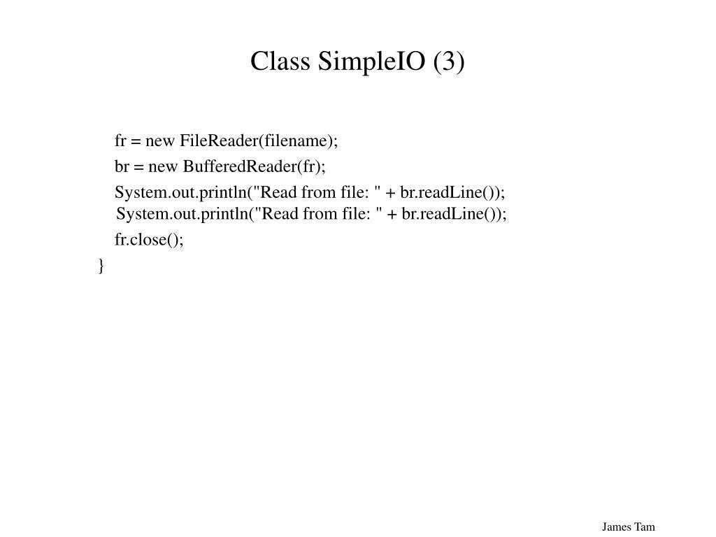 Class SimpleIO (3)