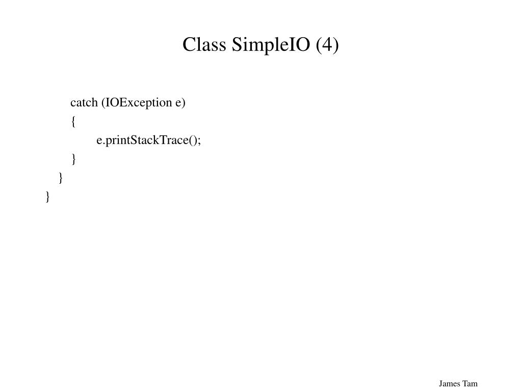 Class SimpleIO (4)