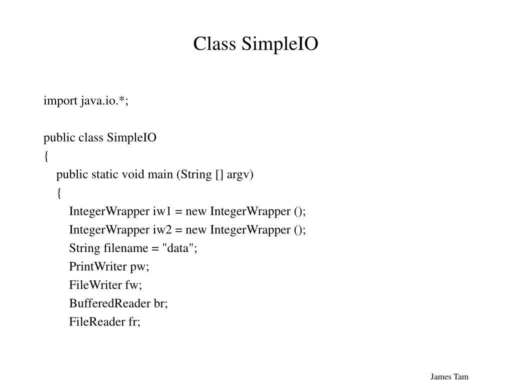 Class SimpleIO