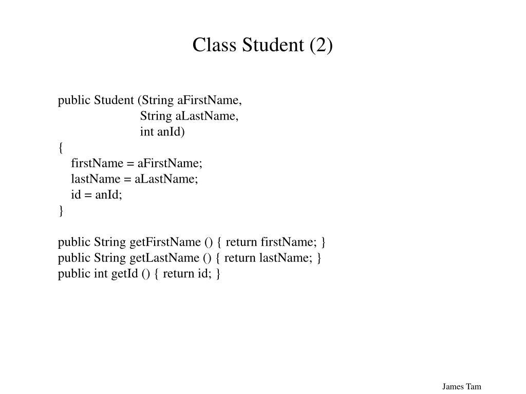 Class Student (2)