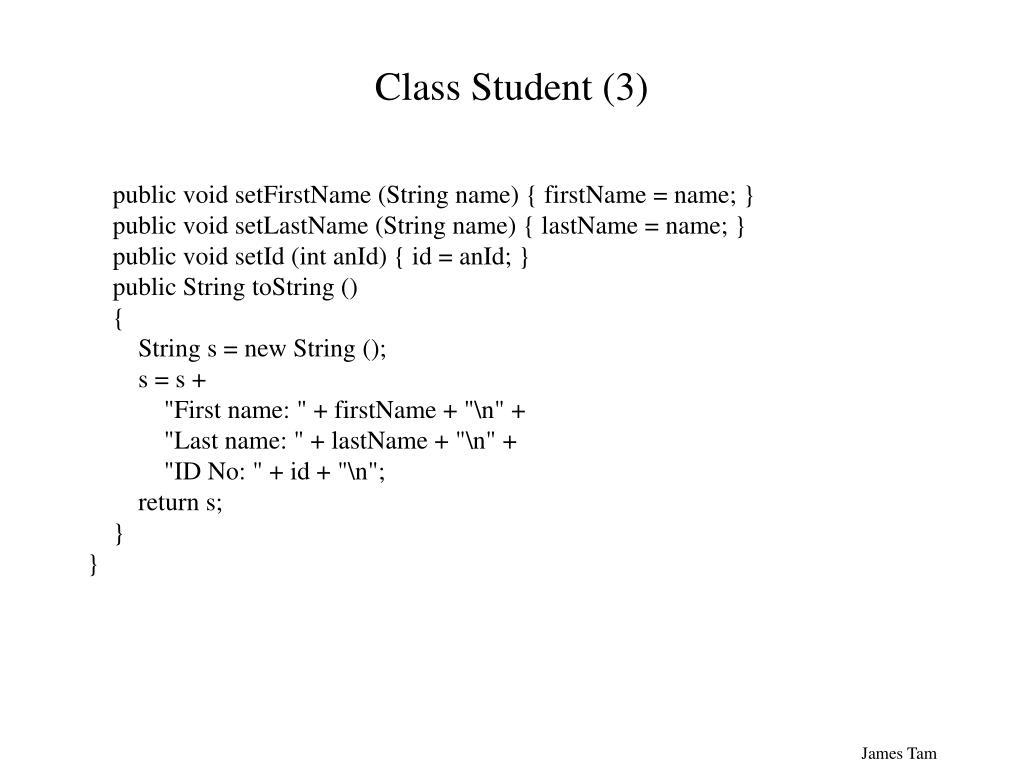 Class Student (3)