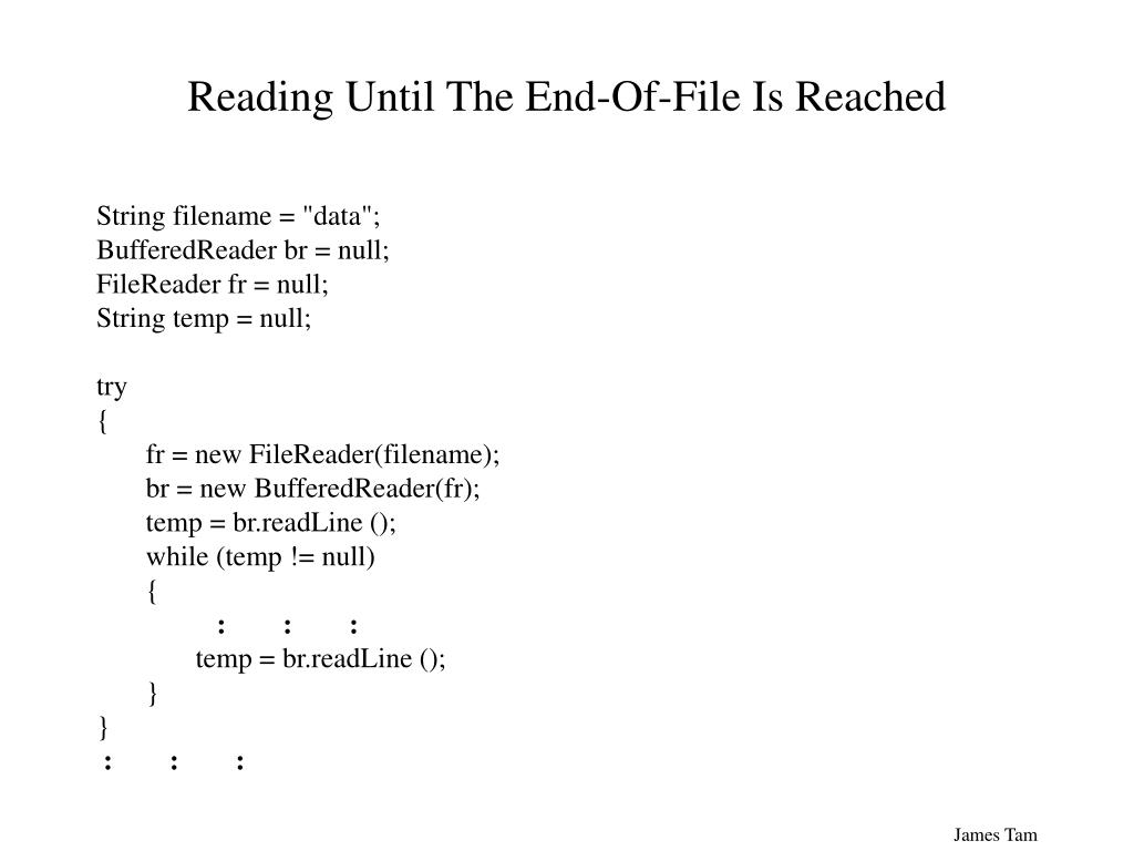 Reading Until The End-Of-File Is Reached