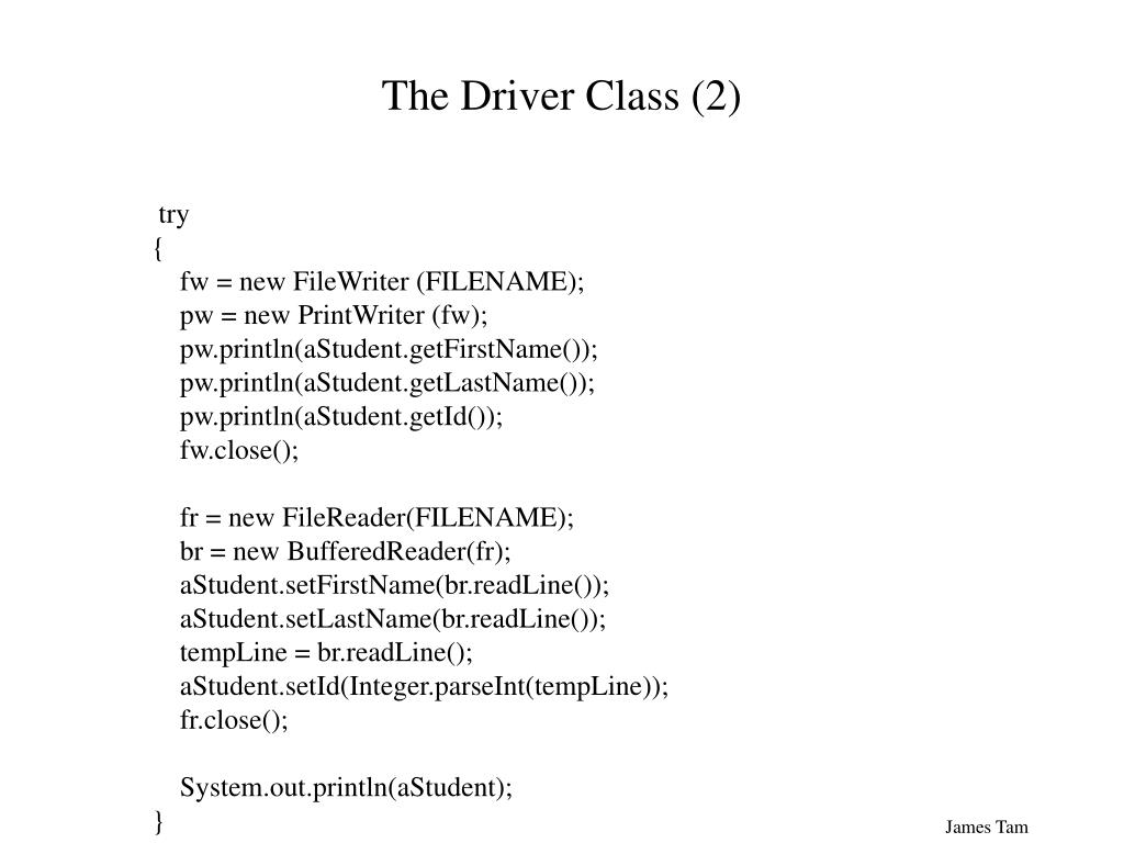 The Driver Class (2)