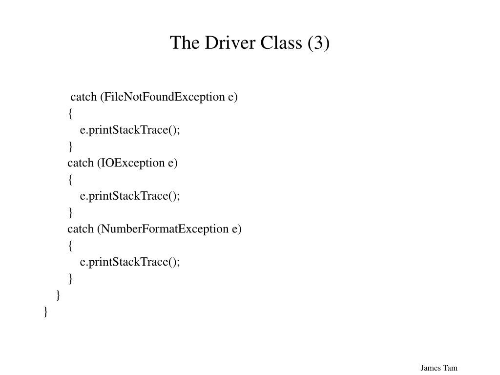 The Driver Class (3)