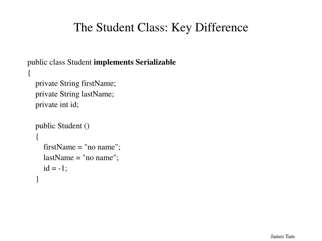 The Student Class: Key Difference
