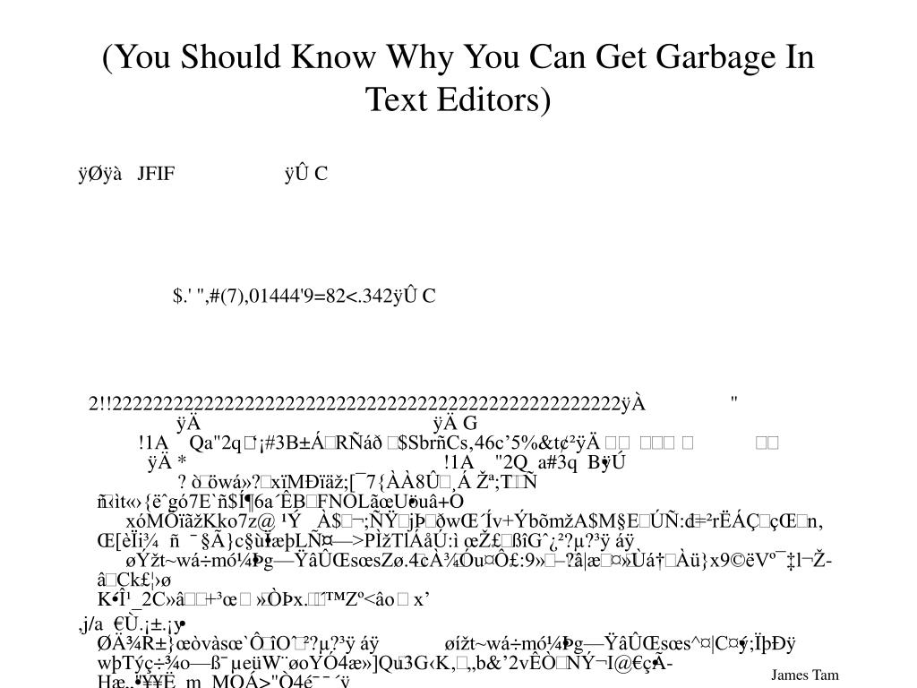 (You Should Know Why You Can Get Garbage In Text Editors)