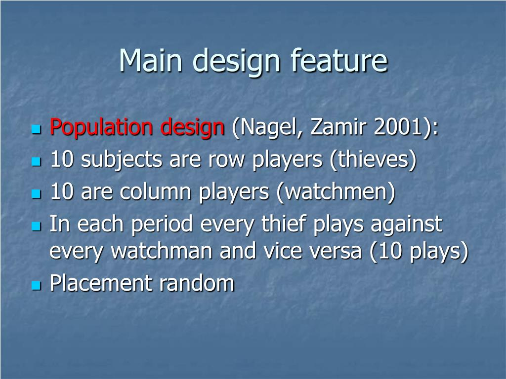 Main design feature