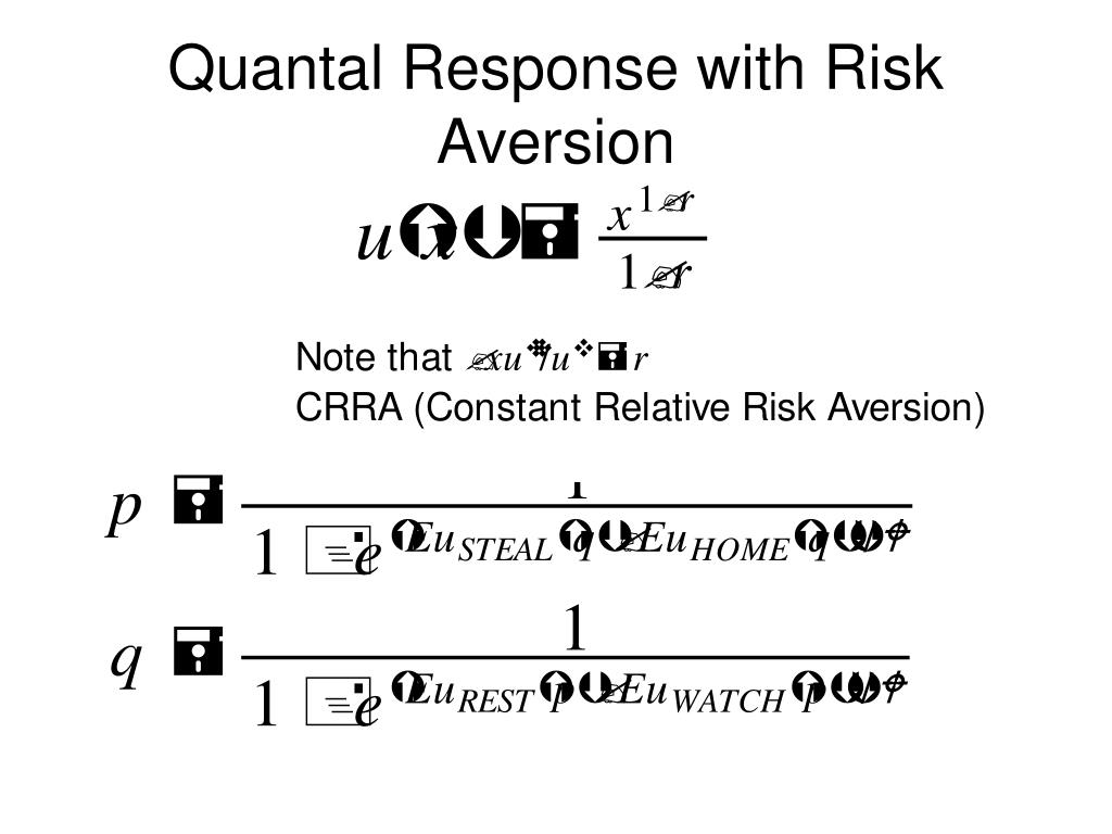Quantal Response with Risk Aversion
