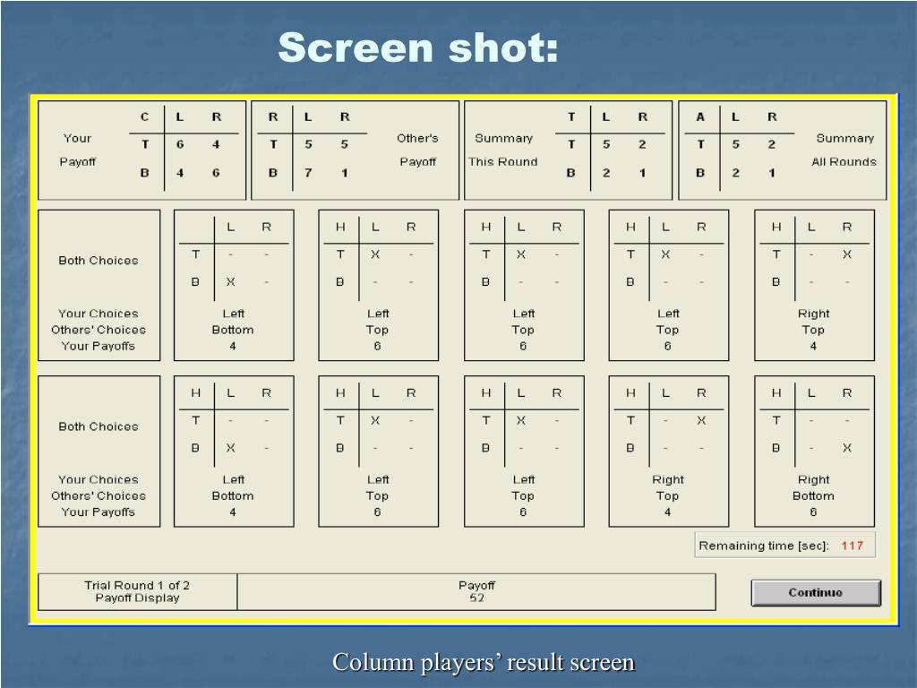 Screen shot: