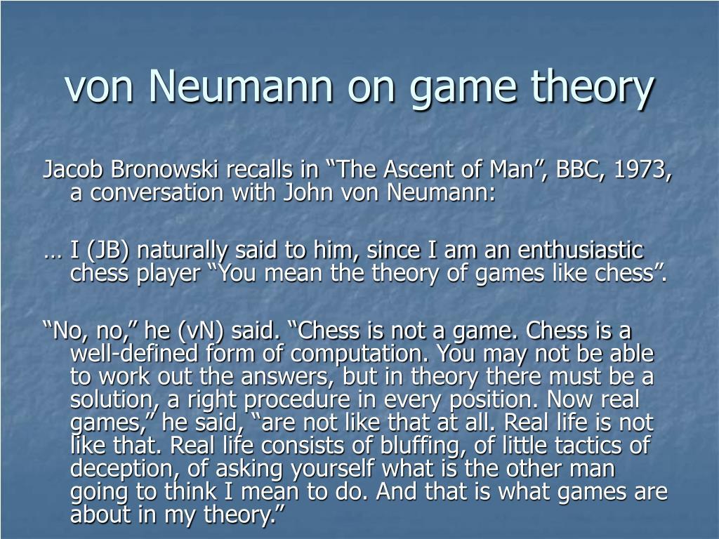 von Neumann on game theory
