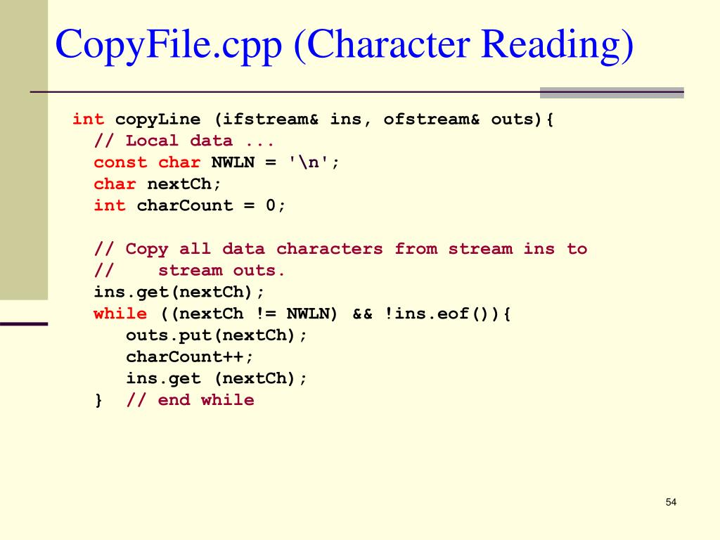 CopyFile.cpp (Character Reading)