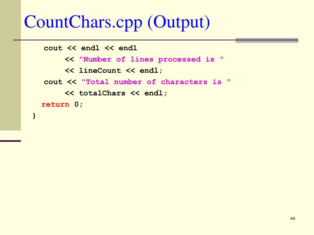CountChars.cpp (Output)