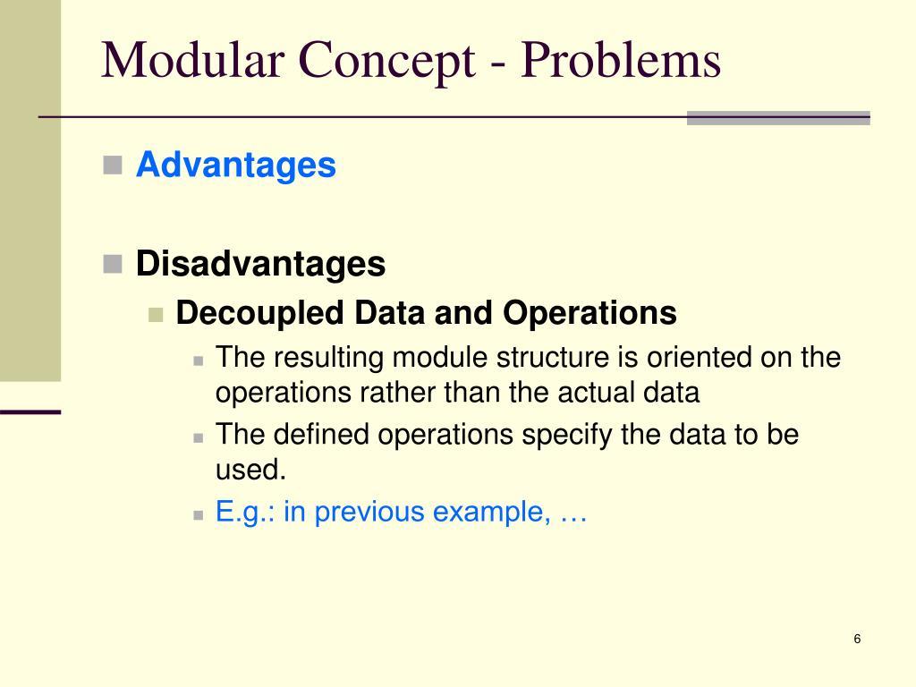 Modular Concept - Problems