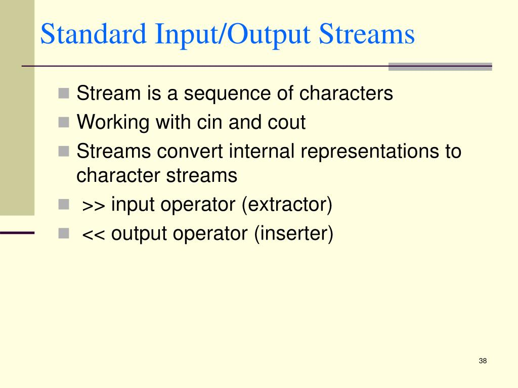Standard Input/Output Streams