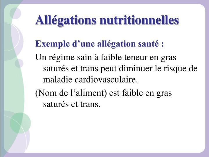 Allégations