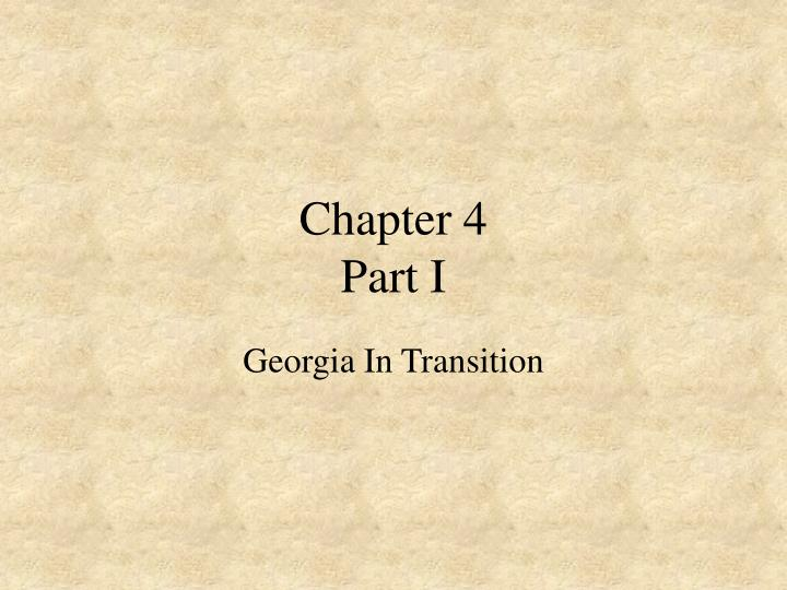 Chapter 4 part i