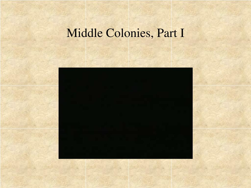 Middle Colonies, Part I