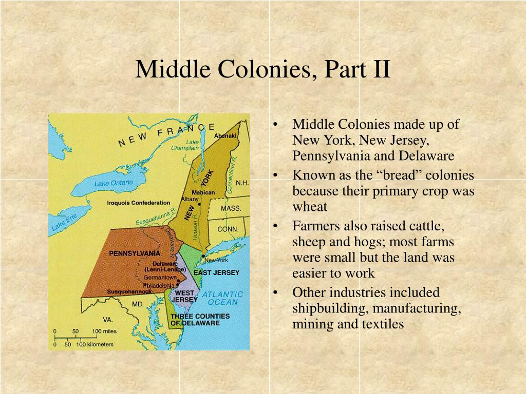 Middle Colonies, Part II