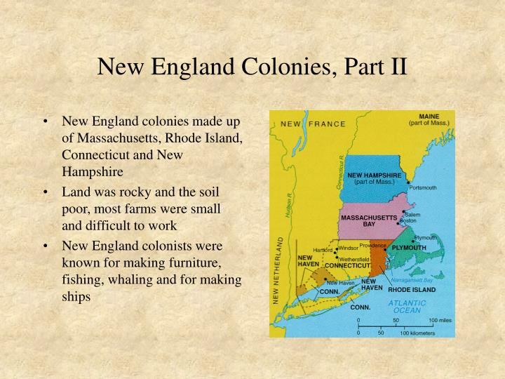 New england colonies part ii