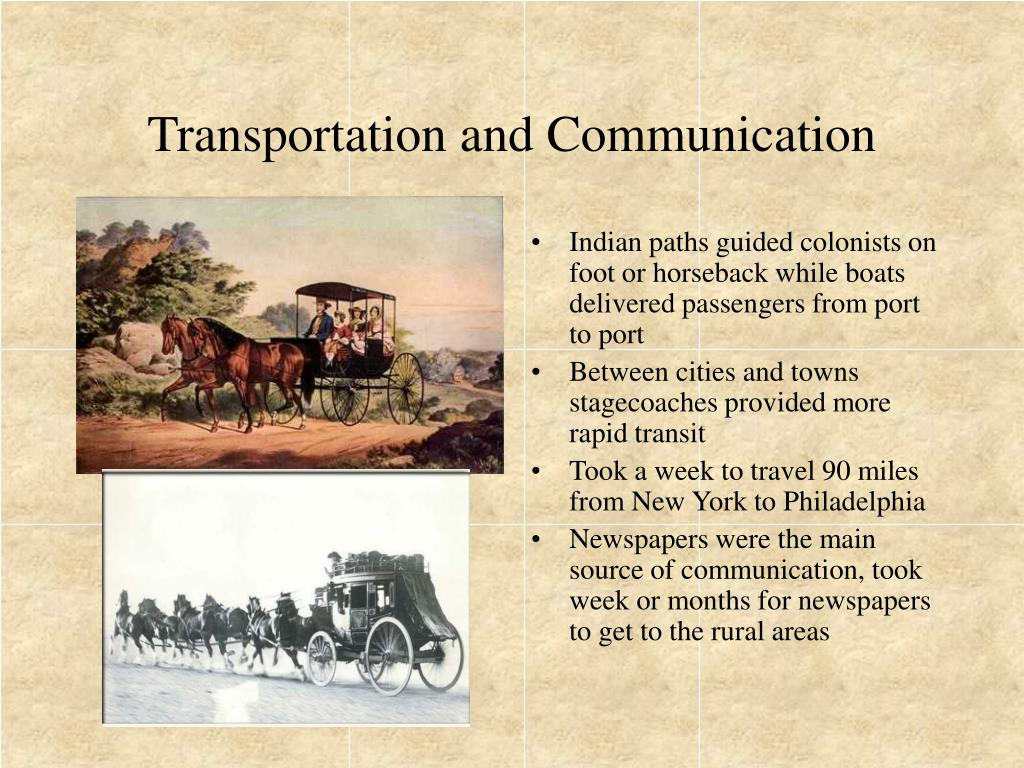 Transportation and Communication