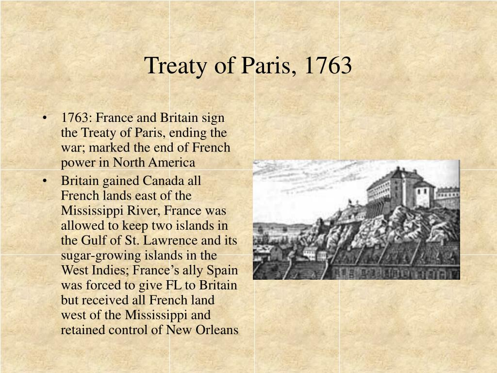 Treaty of Paris, 1763