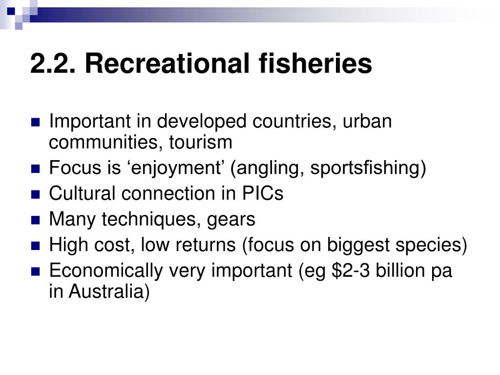 2.2. Recreational fisheries