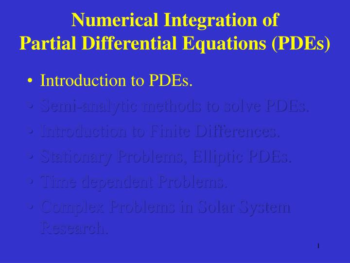 partial differential equations tutorial pdf
