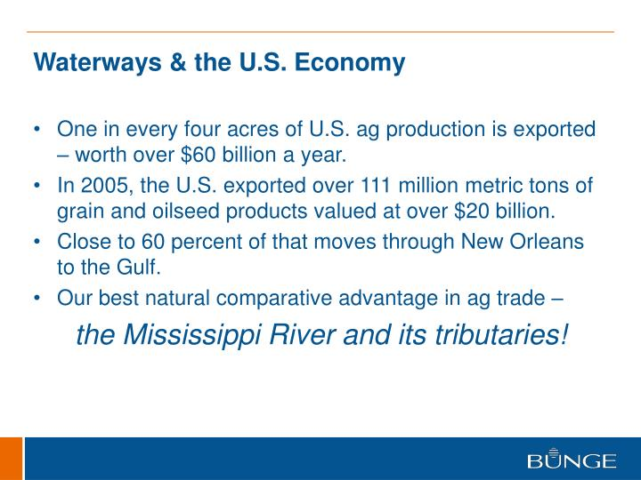 Waterways & the U.S. Economy