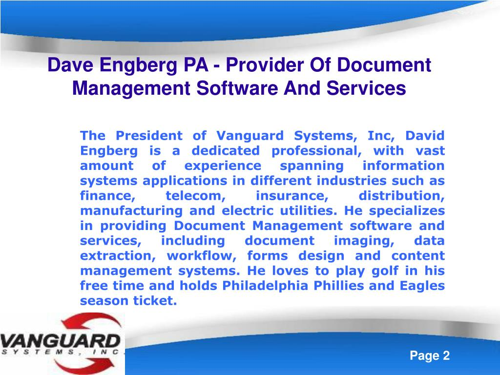 Dave Engberg PA - Provider Of Document Management Software And Services