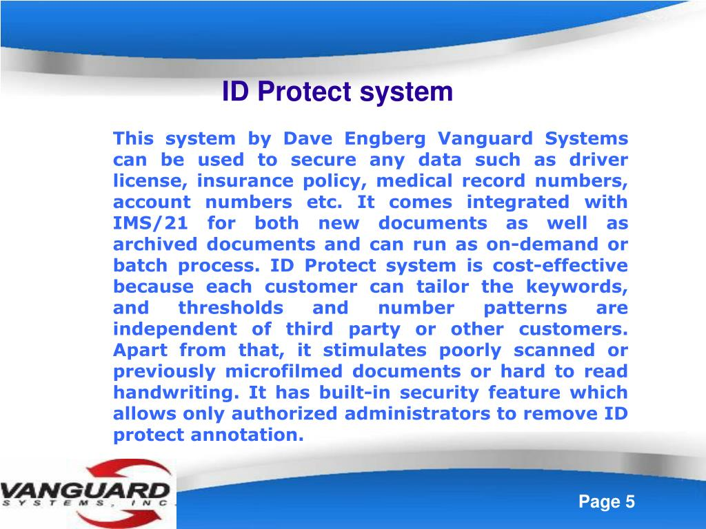 ID Protect system