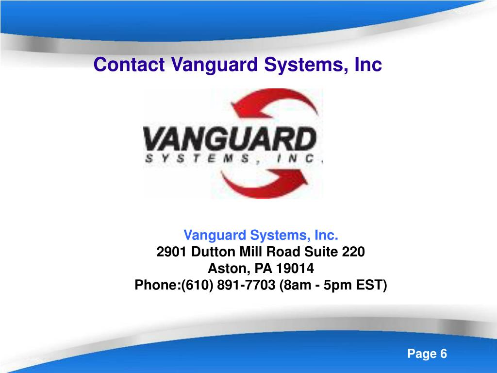Contact Vanguard Systems, Inc