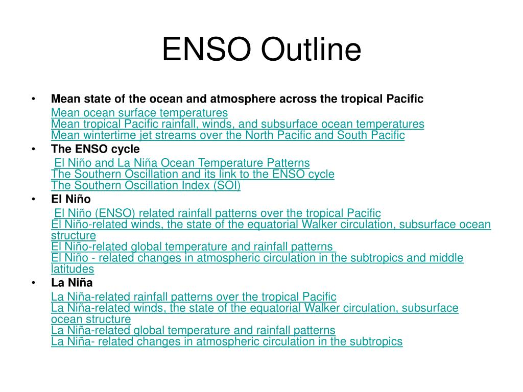 ENSO Outline