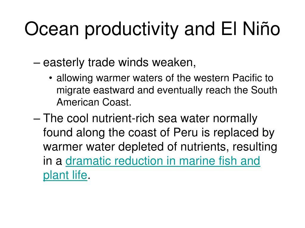Ocean productivity and El Ni