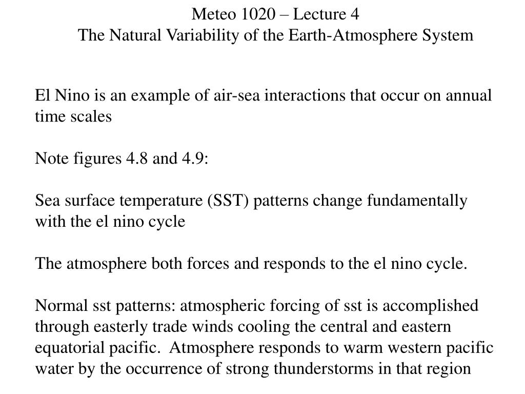 Meteo 1020 – Lecture 4