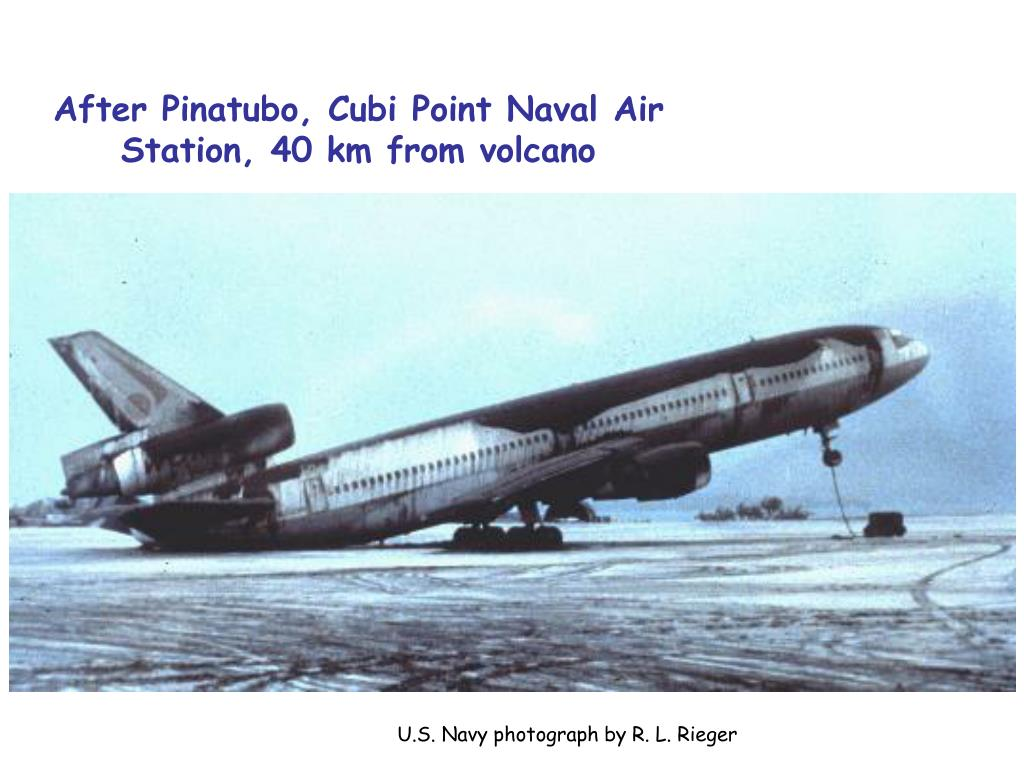 After Pinatubo, Cubi Point Naval Air Station, 40 km from volcano
