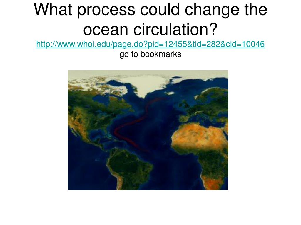 What process could change the ocean circulation?