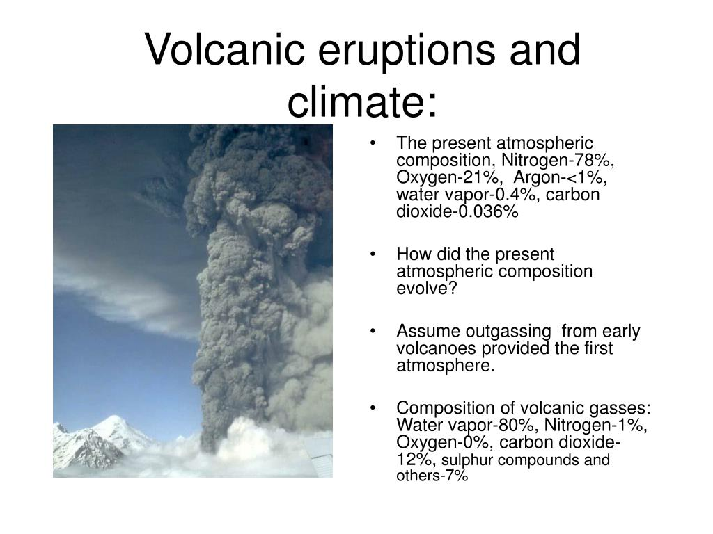 Volcanic eruptions and climate: