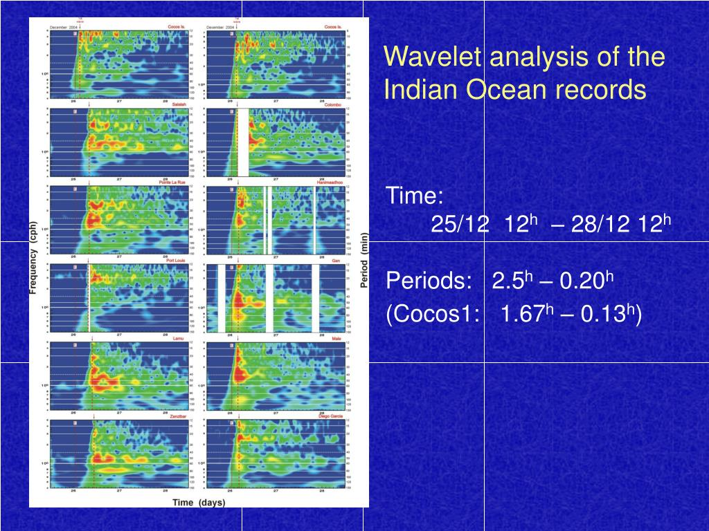 Wavelet analysis of the Indian Ocean records