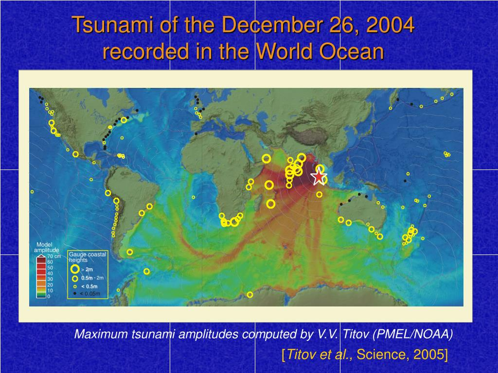 Tsunami of the December 26, 2004 recorded in the World Ocean
