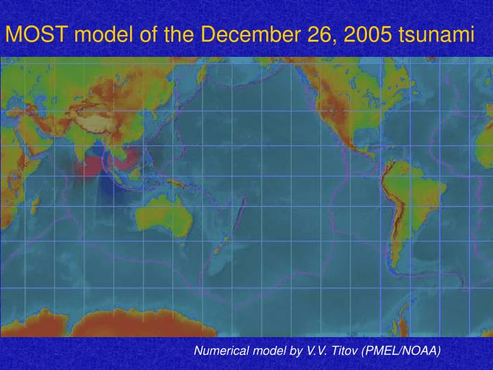 MOST model of the December 26, 2005 tsunami
