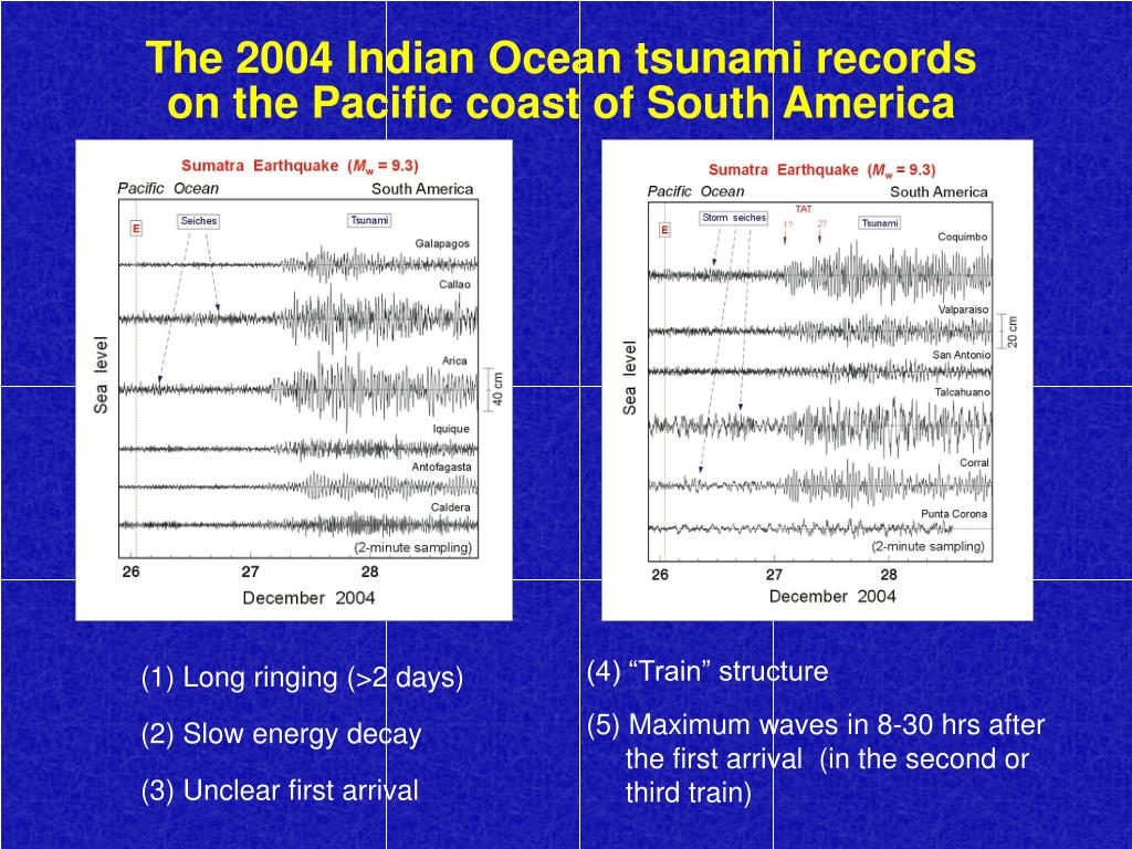 The 2004 Indian Ocean tsunami records on the Pacific coast of South America