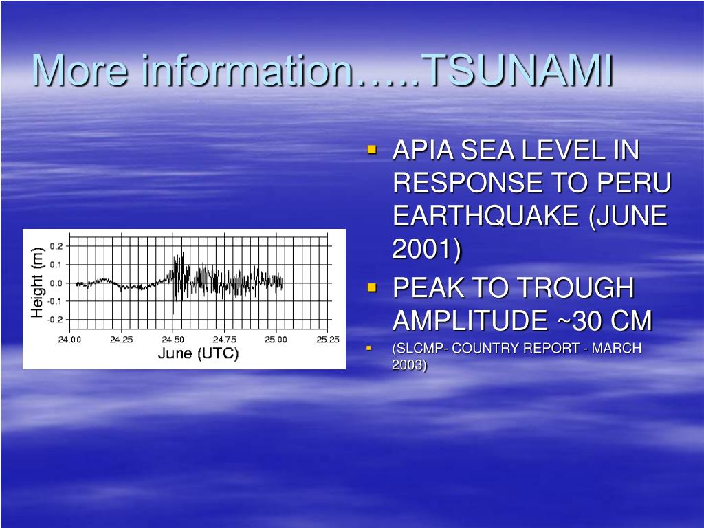 More information…..TSUNAMI