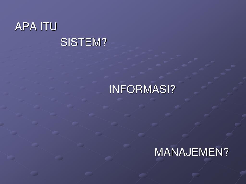 APA ITU