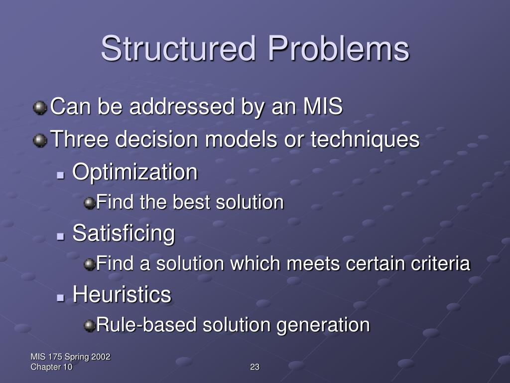 Structured Problems