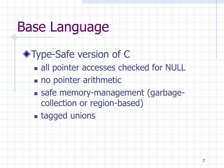 Base Language