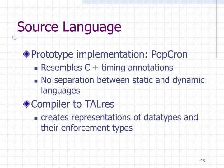 Source Language