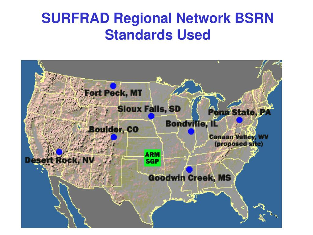 SURFRAD Regional Network BSRN Standards Used
